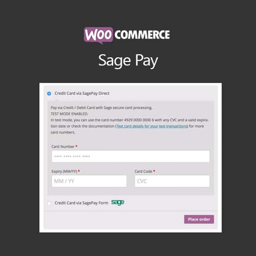 WooCommerce SagePay Form / SagePay Direct 4.8.2 1