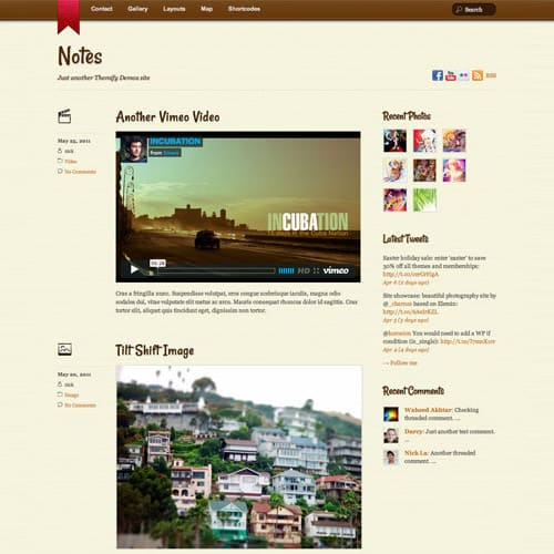 Themify Notes WordPress Theme