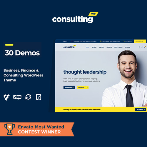 Consulting – Business Finance WordPress Theme