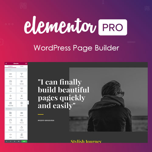Elementor PRO GPL WordPress Page Builder