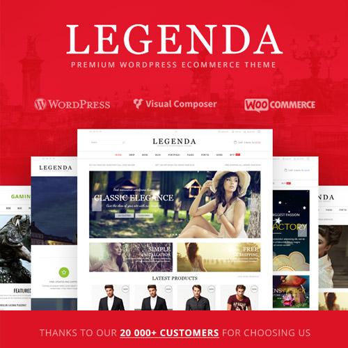 Legenda – Responsive Multi-Purpose WordPress Theme