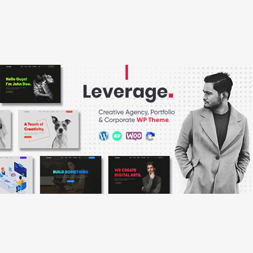 Leverage – Creative Agency & Portfolio WordPress Theme