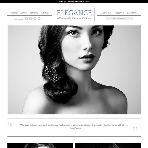 StudioPress Elegance Pro Genesis WordPress Theme