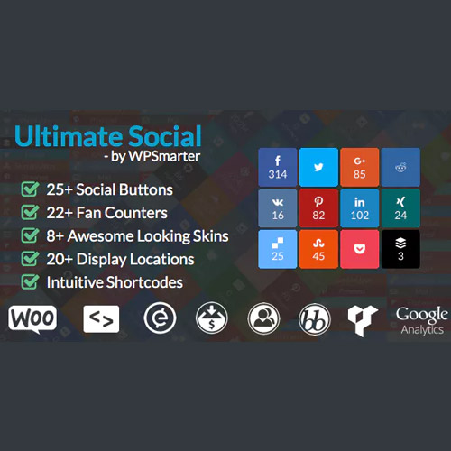 Ultimate Social – Easy Social Share Buttons and Fan Counters for WordPress