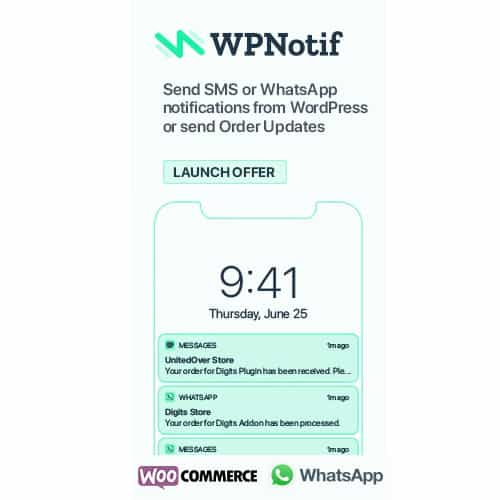 WPNotif: WordPress SMS & WhatsApp Message Notifications 2.2.0.9 1