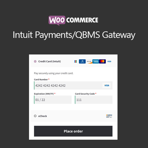 WooCommerce Intuit Payments/QBMS Gateway 2.8.3 1