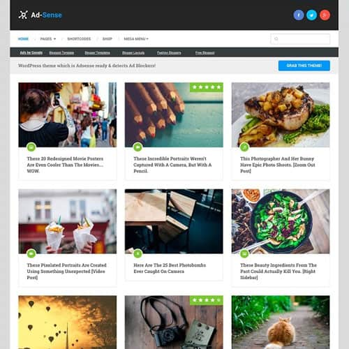 MyThemeShop Ad-Sense WordPress Theme