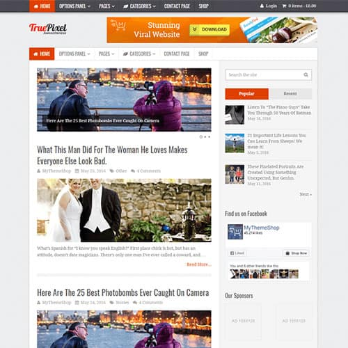 MyThemeShop TruePixel WordPress Theme