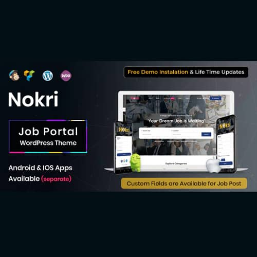 Nokri – Job Board WordPress Theme