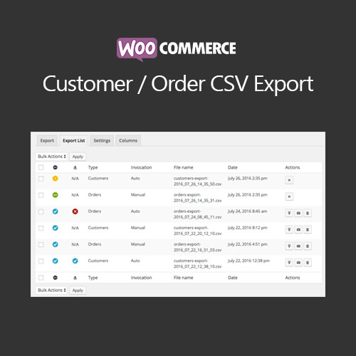 WooCommerce Customer/Order CSV Export