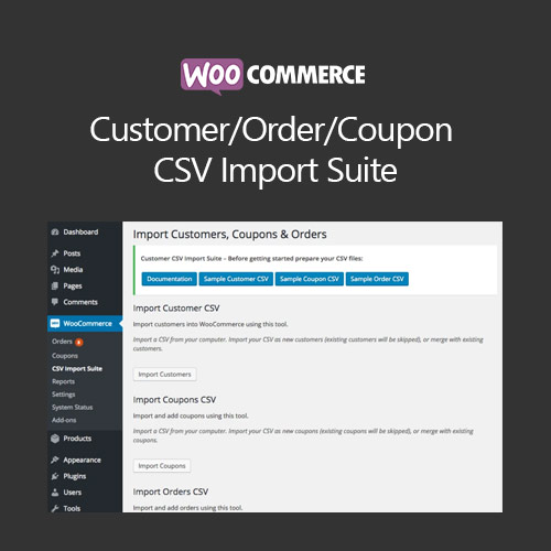 WooCommerce Customer/Order/Coupon CSV Import Suite