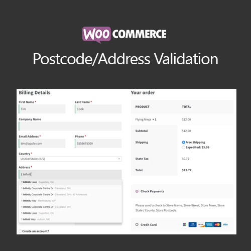 WooCommerce Postcode/Address Validation