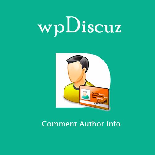 wpDiscuz – Comment Author Info