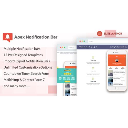 Apex Notification Bar – Responsive Notification Bar Plugin for WordPress
