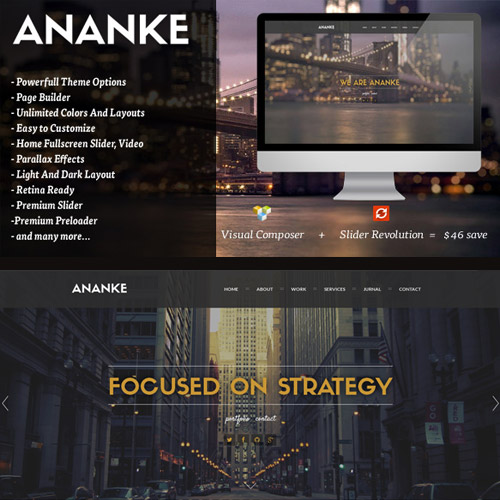 Ananke – One Page Parallax WordPress Theme
