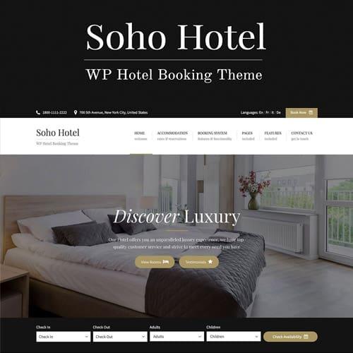 Soho Hotel Booking – Hotel WordPress Theme