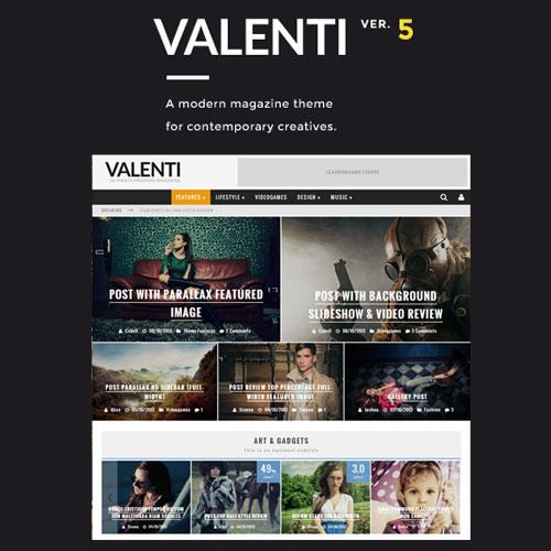 Valenti – WordPress HD Review Magazine News Theme