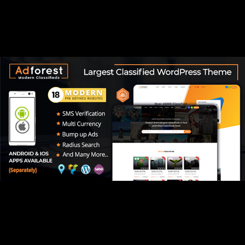 AdForest – Classified Ads WordPress Theme