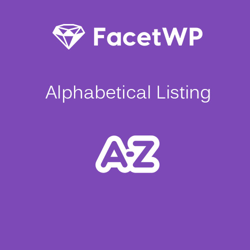 FacetWP – Alphabetical Listing