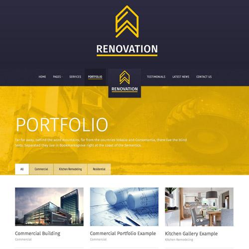 Renovation – Construction Company Theme