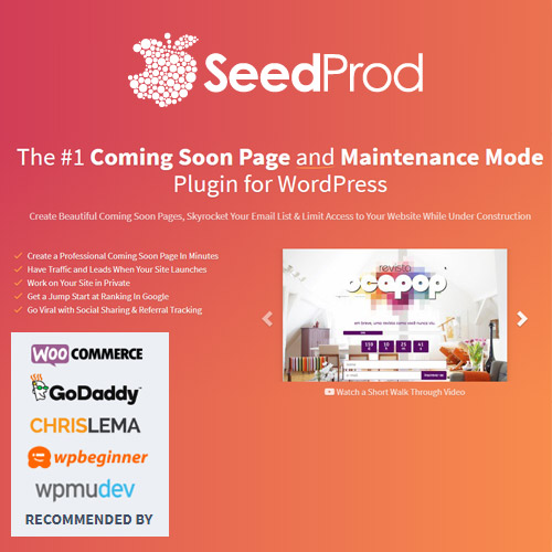 SeedProd Coming Soon Pro – WordPress Coming Soon Pages & Maintenance Mode