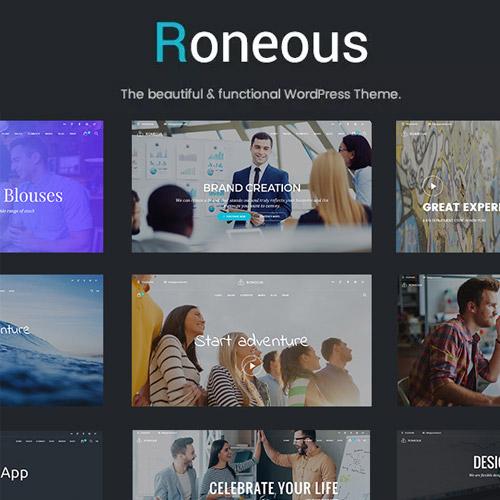 Roneous – Creative Multi-Purpose WordPress Theme