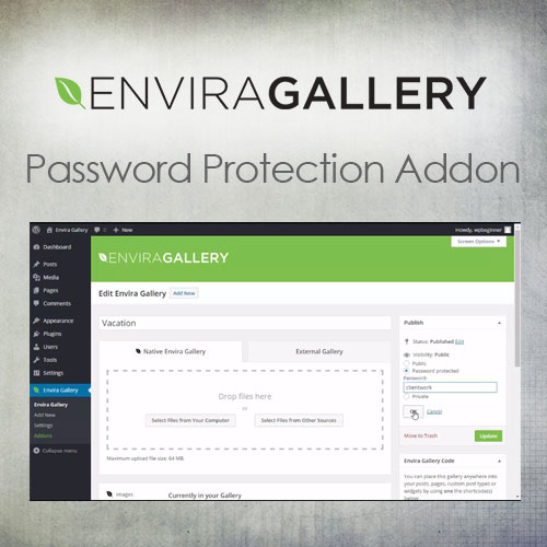 Envira Gallery   Password Protection Addon