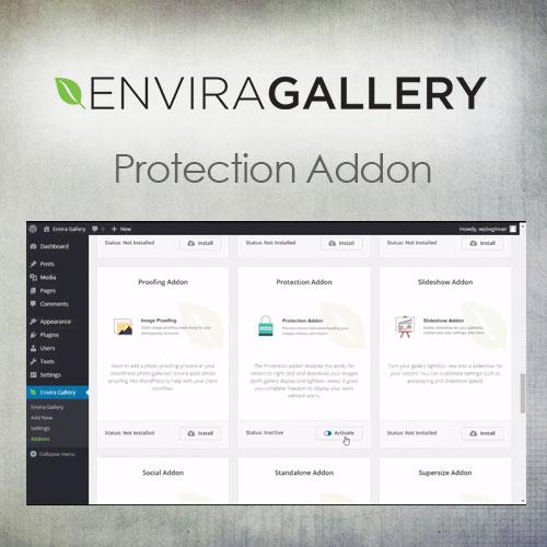 Envira Gallery   Protection Addon