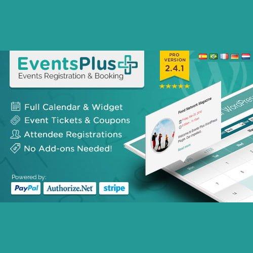 WP EventsPlus   Events Calendar Registration & Booking